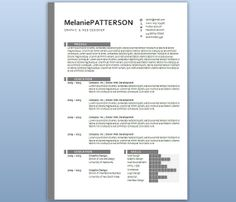 Modern Microsoft Word Resume Template Bella Santoso By Inkpower