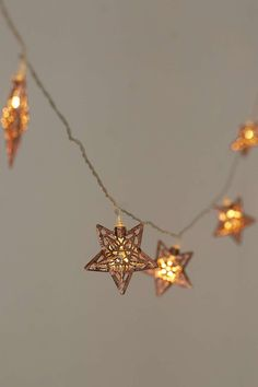 Copper Star String Lights