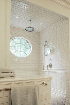 Suzie: Litchfield Designs - Gorgeous spa bathroom design with white subway tiles…