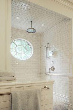 Suzie: Litchfield Designs - Gorgeous spa bathroom design with white subway tiles shower ...