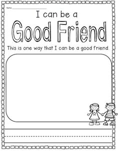 Unit on school rules, friendship, and respecting others. Great for beginning of year! $