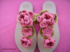 Cute crochet slippers - no pattern