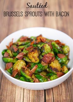 Sautéed Brussels Sprouts with Bacon  @plainchicken