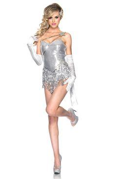 6aa37d7701 Shooting Star Adult Costume Shooting Star Adult Costume includes stretch  sequin fringe bodysuit with ruffled bustle and Make a Wish ribbon accent