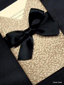 Set the tone for your celebration with these glam wedding invitations! + 19 Sparkly Wedding Ideas