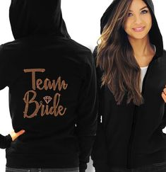 RhinestoneSash Bride, Bridal Party Zip Hoodie - Bride, Bridesmaid, Maid of Honor, Bride Squad - Bachelorette Party Hoodie Bride Sweatshirt, Bachelorette Party Gifts, Colorful Hoodies, Team Bride, Team Groom, Fleece Hoodie, Maid Of Honor, Black Hoodie, Sweatshirts