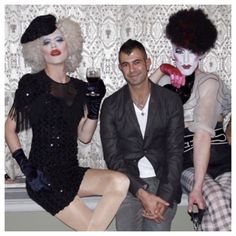 Sharon Needles, Jeremy Kost, & Veruca la'Piranha in NYC.