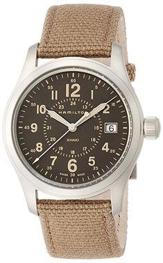 260$ on Amazon Hamilton Khaki Field Quartz H68201993 Brown / Brown Rugged Canvas Analog Quartz Unisex Watch #watch #hamilton #wristwatch #khaki
