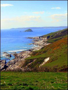 Ruige kustlijn van Zuid Engeland