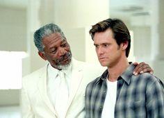 BRUCE ALMIGHTY, Morgan Freeman, Jim Carrey, 2003 | Essential Film Stars, Jim Carrey http://gay-themed-films.com/film-stars-jim-carrey/