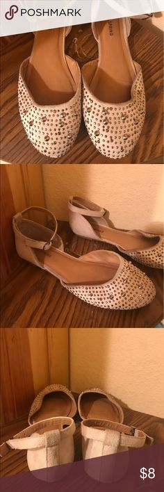 ivory studded flats  (call it spring) Call it Spring strap flats. Silver studs. Call It Spring Shoes Flats & Loafers