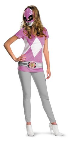 Easy and fun! Printed costume shirt and character mask. Teen female juniors 7-9. Use your own pants and shoes to complete the outfit!