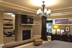 Owner's Suite - Fireplace/Study Room (Different View)