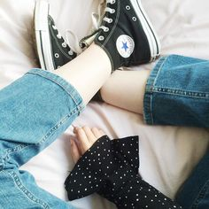Flared sleeves cropped jeans and scruffy converse are my go-tos right now