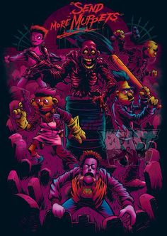 The Return of the Living Dead (1985). Send More Muppets t-shirt design