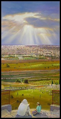 Love For His People: Jerusalem - the Old City and more. Beautiful artwork and paintings by Alex Levin of Tel Aviv, Israel Cultura Judaica, Arte Judaica, Jewish History, Jewish Art, City Of God, Israel Travel, Light Of The World, Holy Land, Old City