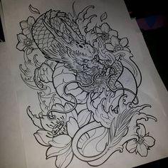 Asian Tattoos, Leg Tattoos, Body Art Tattoos, Sleeve Tattoos, Thigh Tattoo Designs, Dragon Tattoo Designs, Tattoo Sleeve Designs, Japanese Tattoo Designs, Japanese Tattoo Art