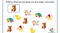 Atención imagenes iguales 10 Bingo, Pikachu, Education, Cami, Fictional Characters, Color By Numbers, 3 Year Olds, Speech Language Therapy, Teaching