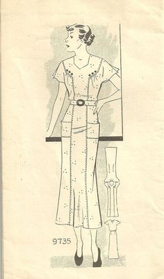 Vintage 1930s Mail Order Sewing Pattern Marian by studioGpatterns