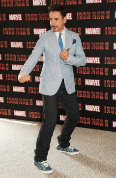 Iron Man, Robert Downey Jr in HUDSON Jeans Byron Straight