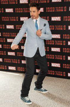 Iron Man, Robert Downey Jr in HUDSON Jeans Byron Straight