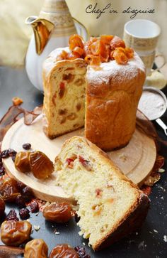 Panettone is an Italian sweet bread that is traditionally made in the holiday season. It is a very light,  not-overly-sweet brioche studded with melting sultanas and candied citrus fruit  – soft, aromatic and delicious.