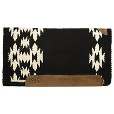 "Weaver Aztec Memory Foam Felt Bottom Western Saddle Pad- Z1 (Black/White)/34""x36\"" and Outlet Bits/Tack 