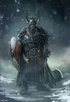 Typical Viking myth. The long horns and huge ax.