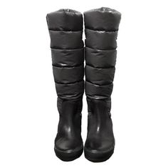 cheap Moncler Gris Nible Quilted Bottes womenb56