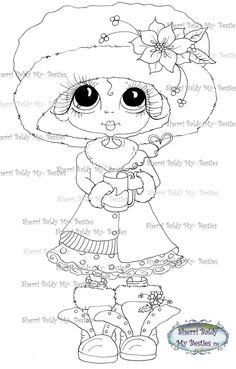 INSTANT DOWNLOAD Digital Digi Stamps Digi Big Eye by SherriBaldy