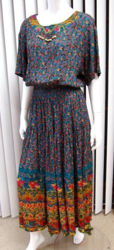 CAROLE LITTLE SHORT SLEEVE PAISLEY ADORABLE DRESS SIZE 10, MULTICOLORED