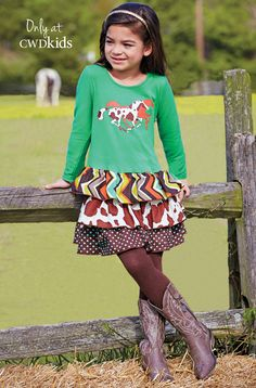 From CWDkids: Horses Tiered Dress
