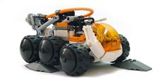 https://flic.kr/p/5T1w7t | Drilling unit | Remember that little drilling vehicle from the Mars Mission dropship? For some reason I really liked that whole set and the little driller was good enough to be sold be itself. I wanted to build my own version upgrading what I could and adding where I had room.