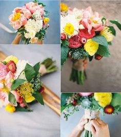 DIY flower arrangement including a list of all flowers in the bouquet