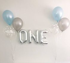 One Silver Balloons Light Blue Silver Snowflake Latex Balloons
