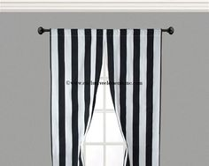 Stripe Black Curtains Black and White Curtain Panels Modern Drapery Window Treatments Set Pair Home Decor