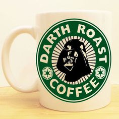 Darth Roast Coffee Mug | Star wars Starbucks | Darth Vader