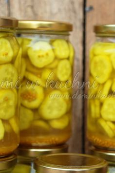 Ogórki w curry Pickles, Cucumber, Curry, Recipes, Food, Rezepte, Kalay, Food Recipes, Curries