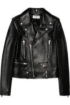 Saint Laurent Leather biker jacket | NET-A-PORTER