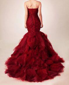 Custom Made Lace Organza Mermaid Wedding Dress by SealedWithaDress, $869.00
