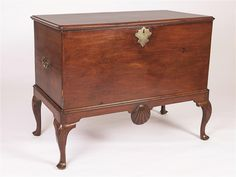 English 18th Century Mahogany Horizontal Chest on Stand #antiques #furniture   www.linkauctiongalleries.com Hope Chest, 18th Century, Storage Chest, Auction, English, Antiques, Furniture, Home Decor, Homemade Home Decor