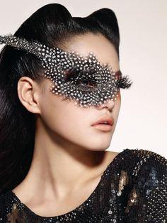 Masquerade Beauty Harper's Bazaar Korea December 2010