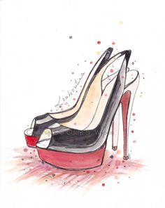 Louboutin Singbacks  Art Print 8x10 by claireswilson on Etsy, $20.00