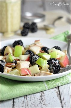 Simple Honey-Chicken Salad with Fresh Fruit - perfect for a lovely lunch or light dinner!