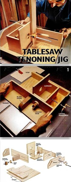 DIY Table Saw Tenon Jig - Joinery Tips, Jigs and Techniques | WoodArchivist.com