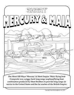 Airport Coloring Book Short S-20 Mercury and Maia