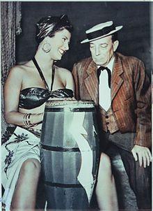 Silvana Pampanini e Buster Keaton in  L'incantevole nemica