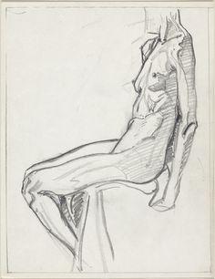 Reclining Model by Franklin Carmichael, 1938 Franklin Carmichael, Quick Sketch, Art Drawings Sketches, Figure Drawing, Goku, Artsy Fartsy, Anatomy, Art Photography, Model