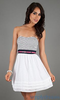 Short Casual Strapless Dress - Just My Style - Pinterest - Shops ...