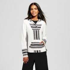 Inspired by south-of-the-border pullovers, the Beach Hoodie - Who What Wear™ is a slinky cover-up by the pool or on a beach, or use its dramatic lines with high-contrast pants for a fun brunch look. The chic look is elevated by the face-framing hood and banded cuffs; timelessly designed for season-after-season wear.